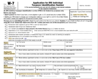 IRS Form For non-Resident of US