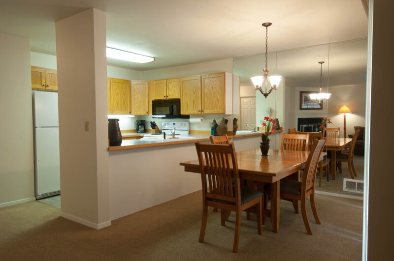 Condo One Bedroom Kitchen & Dining